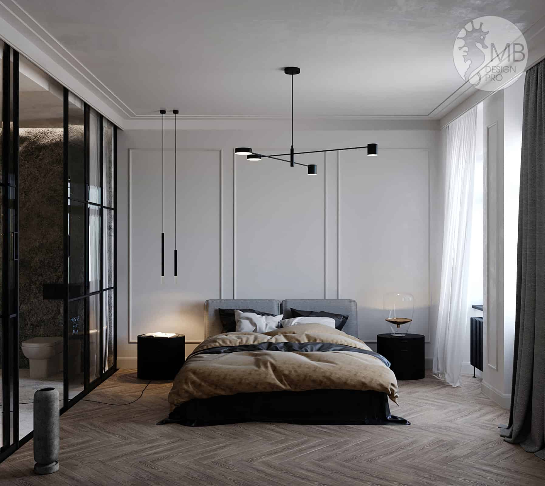 Stone veneer. Gray harmony. | Interior Designio